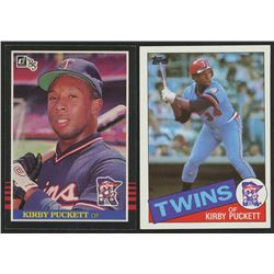 Lot of (2) Kirby Puckett Rookie Cards with 1985 Topps #536 RC  1985 Donruss #438 RC