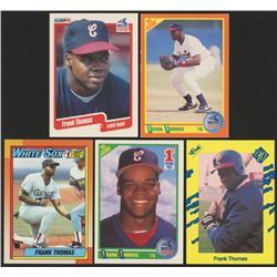 Lot of (5) Frank Thomas Rookie Cards