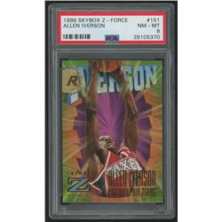 1996-97 Z-Force #151 Allen Iverson RC (PSA 8)