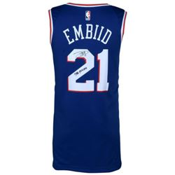 "Joel Embiid Signed 76ers Jersey Inscribed ""The Process"" (Fanatics)"