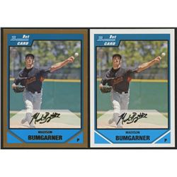 Lot of (2) Madison Bumgarner Rookie Cards with 2007 Bowman Draft Draft Picks #BDPP61  2007 Bowman Dr