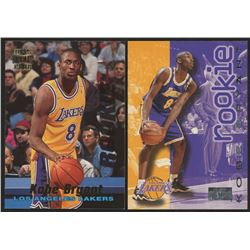 Lot of (2) Kobe Bryant Rookie Cards with 1996-97 Stadium Club Rookies 1 #R12  1996-97 SkyBox Premium