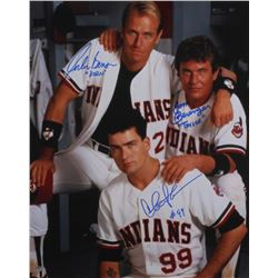 "Charlie Sheen, Tom Berenger  Corbin Bernsen Signed ""Major League"" 16x20 Photo Inscribed ""Dorn""  ""Tay"