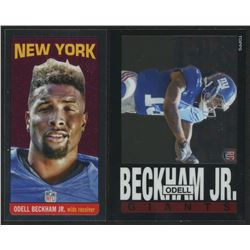 Lot of (2) Odell Beckham Jr. Rookie Cards with 2014 Topps Chrome 1985 #15  2014 Topps Chrome 1965 #T
