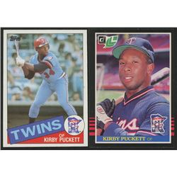 Lot of (2) Kirby Puckett Rookie Cards with 1985 Leaf/Donruss #107 RC  1985 Topps #536 RC