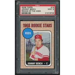2006 Topps Rookie of the Week #16 Johnny Bench 68  (PSA 9)
