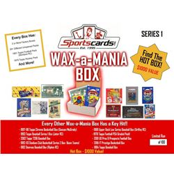 Sportscards.com's WAX-a-MANIA Sports Card Mystery Box - Factory Unopened Boxes and Packs