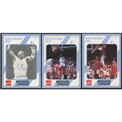 Lot of (3) Michael Jordan 1989-90 North Carolina Collegiate Collection with #13, #14  #65