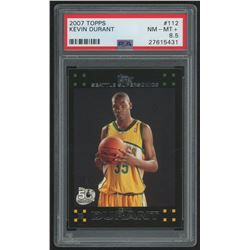 2007-08 Topps #112 Kevin Durant RC (PSA 8.5)