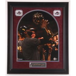 LeBron James Signed Cavaliers 2016 NBA Finals 23x27 Custom Framed Photo (Steiner COA)