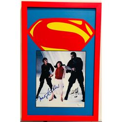 "Margot Kidder  Jack O'Halloran ""Superman"" 12x18 Custom Framed Photo Display (JSA COA)"