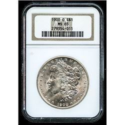 1900-O Morgan Silver Dollar (NGC MS 65)
