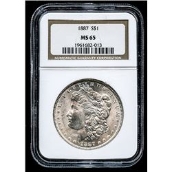 1887 Morgan Silver Dollar (NGC MS 65)
