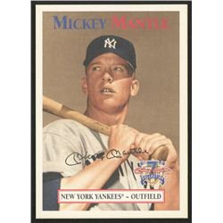 1997 Scoreboard Mantle #52 Mickey Mantle / 1952 Trading Card