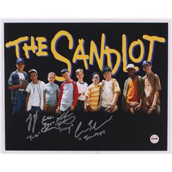 """The Sandlot"" 11x14 Photo Signed by (4) With Victor DiMattia, Shane Obedzinski, Marty York,  Chaunce"