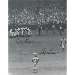 "Bobby Thomson  Ralph Branca Signed ""The Shot Heard 'Round The World"" 8x10 Photo (PA COA)"