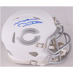 Mike Ditka Signed Bears Custom Matte White ICE Speed Mini Helmet (Schwartz COA)