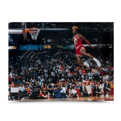 Michael Jordan Signed Bulls 30x40 Photo (UDA)