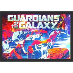 "Stan Lee Signed ""Guardians of the Galaxy Vol: 2"" 29x42 Custom Framed Poster Display (Lee Hologram)"