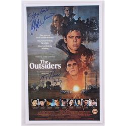 "Ralph Macchio  C. Thomas Howell Signed ""The Outsiders"" 11x17 Photo With (2) Inscriptions (Fiterman S"