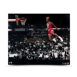 "Michael Jordan Signed Bulls ""88 Slam Dunk Champ"" LE 20x24 Embossed Photo (UDA COA)"