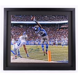 "Odell Beckham Jr. Signed Giants ""The Catch"" 26x30 LE Custom Framed Photo (Steiner COA)"