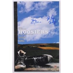 "Maris Valainis  Brad Long Signed ""Hoosiers"" 11x17 Photo with (2) Inscriptions (Fitterman Sports Holo"