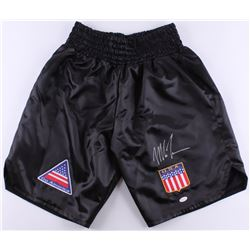 Mike Tyson Signed Custom Boxing Trunks (JSA COA)