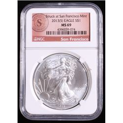 2013-S American Silver Eagle $1 Coin (NGC MS 69)