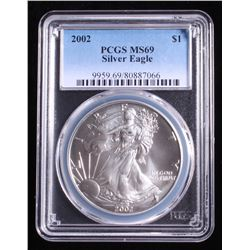 2002 American Silver Eagle $1 Coin (PCGS MS 69)