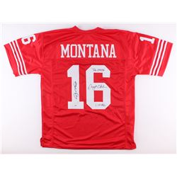 "Joe Montana  Dwight Clark Signed 49ers Jersey Inscribed ""THE CATCH""  ""1.10.82"" (PSA COA)"