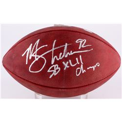 "Michael Strahan Signed Super Bowl XLII Logo Football Inscribed ""SB XLII Champs"" (Steiner Hologram)"