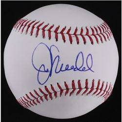 Joe Maddon Signed OML Baseball (Schwartz COA  MLB Hologram)