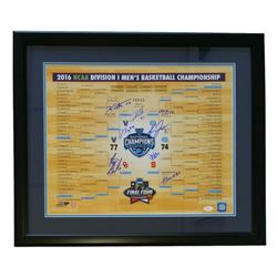 "2016 Villanova Wildcats National Champions 22"" x 27"" Custom Framed Photo Display Signed by (8) with"