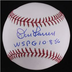 "Don Larsen Signed OML Baseball Inscribed ""WS PG 10-8-56"" (PSA COA)"