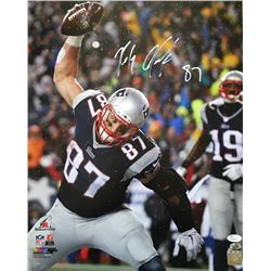 "Rob Gronkowski Signed Patriots ""Gronk Spike"" 16x20 Photo (JSA COA)"