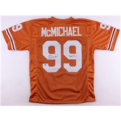 "Steve McMichael Signed Texas Longhorns Throwback Jersey Inscribed ""Hook 'em"" (Schwartz COA)"