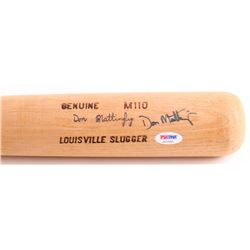 Don Mattingly Signed Louisville Slugger Powerized Baseball Bat (PSA COA)