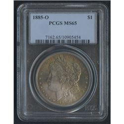 1885-O $1 Morgan Silver Dollar (PCGS MS 65)