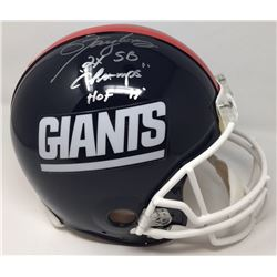 "Lawrence Taylor Signed Giants LE Full-Size Authentic On-Field Helmet Inscribed ""HOF 99""  ""2x SB Cham"