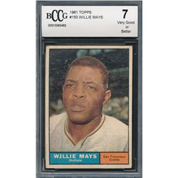 1961 Topps #150 Willie Mays (BCCG 7)