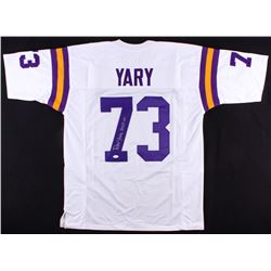 "Ron Yary Signed Vikings Jersey Inscribed ""HOF 01"" (JSA COA)"