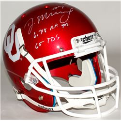 "DeMarco Murray Signed Oklahoma Sooners Full-Size Helmet Inscribed ""6,718 A.P. Yds""  ""65 TD's"" (Radtk"