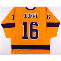 "Marcel Dionne Signed Kings Jersey Inscribed ""HOF 92"" (JSA COA)"