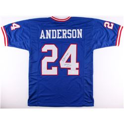 "Ottis Anderson Signed Giants Jersey Inscribed ""SB XXL MVP"" (JSA COA)"