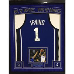 Kyrie Irving Signed Duke Blue Devils 35x43 Custom Framed Authentic Jersey Display (PSA COA)