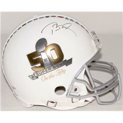 Tom Brady Signed Super Bowl 50 Logo Full-Size Authentic On-Field Helmet (TriStar Hologram)