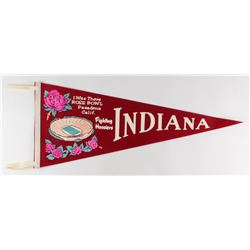 "Indiana Fighting Hoosiers Football Original Full-Size Vintage 29"" 1968 Rose Bowl Pennant"