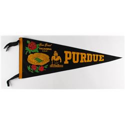 "Purdue Boilermakers Football Original Full-Size Vintage 29"" 1967 Rose Bowl Pennant"