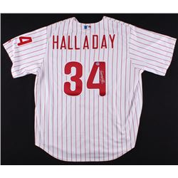 Roy Halladay Signed Phillies Authentic Majestic Cool Base Jersey (LOJO  COA)